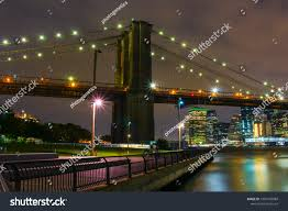 Brooklyn Bridge Lights Brooklyn Bridge Lights Stock Photo Edit Now 1009168984