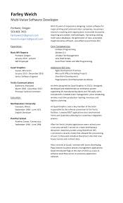 Certified Developer Resume Developers Resume Basic Mv Reports