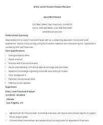 Financial Analyst Resume Examples Financial Analyst Resume Samples ...