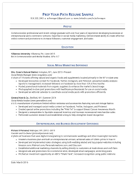 College Resume Sample Resume Samples Students Prep Your Path Westchester NY 33