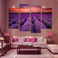 Living Room Oil Paintings Painting 4 Piece Free Shipping Modern Wall Art Home Decoration