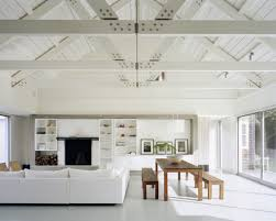 ... Wonderful Home Interior Decoration With Beam Ceiling Ideas : Gorgeous  Living Room Interior Design With Cozy ...