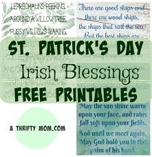 St Patricks Day Irish Blessings Free Printables A Thrifty