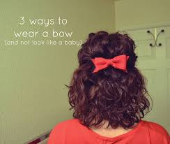 Bows In Hair Style 3 ways to wear a hair bow and not look like a baby mama mandolin 7799 by wearticles.com