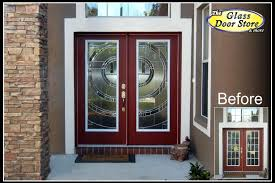 clear glass front door.  Front Modern Glass Inserts For Fiberglass Entry Doors With Contemporary Styling  And High Privacy Used Mostly On The Front Of Residential Homes Intended Clear Glass Front Door P