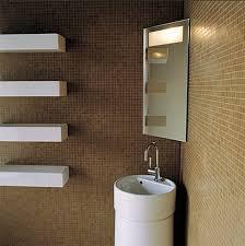 bathroom wonderful decoration using modern floor standing round sinks including corner bathtub and unframed wall mirror astonishing shelf with ideas