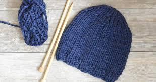 Knit Hat Patterns Impressive Beginner Chunky Knit Hat Pattern