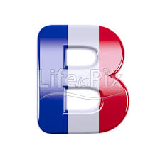 france letter b large 3d character