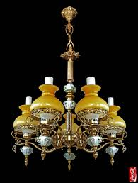 antique french victorian limoges porcelain bronze yellow glass shades chandelier for at 1stdibs