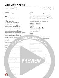 Country Guitar Chords Chart God Only Knows Chord Chart Editable For King Country