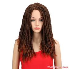 22 Pouces Synthétiques Perruques Pour Les Femmes Noires Crochet Tresses Twist Jumbo Dread Faux Locs Coiffure Long Afro Brown Cheveux