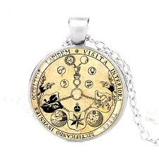 details about rosicrucian rose magic alchemy hermetic occult amorc pendant silver necklace