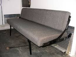 rv trailer rollover convertible beds couch sleeper rv and intended for camper sofa plan 9