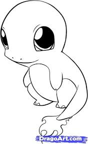 Small Picture Pokemon Coloring Pages Charmander line drawings online Pokemon