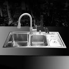 undermount kitchen sinks stainless steel. 910*430*210mm 304 Stainless Steel Undermount Kitchen Sink Set Three Bowl Drawing Drainer Handmade Brushed Seamless Welding Sink-in Sinks From Home