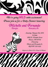 Pink Zebra Baby Shower Invitations  CimvitationPink Zebra Baby Shower Invitations