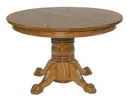 ask us a question amish 48 round single pedestal dining table