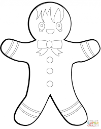 Small Picture Coloring Pages Gingerbread Man Coloring Page Free Printable