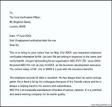 Sample Proof Of Employment Letter For Visa Templatezet