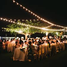 Outdoor wedding lighting ideas Wedding Decorations Related Outdoor Wedding Lighting Ideas From Real Celebrations Martha Stewart Weddings How To Illuminate Your Outdoor Wedding Martha Stewart Weddings