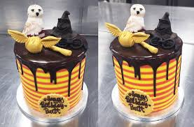 Harry Potter Bespoke Theme Birthday Cake Design Complete With