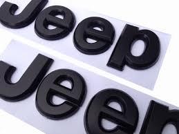 jeep grill logo. amazoncom 2pcs flat matte black jeep emblem logo stickers cherokee wrangler unlimited automotive jeep grill