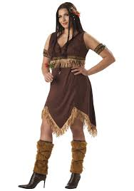 plus size american indian princess costume