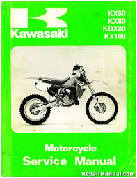 used 1988 1993 kawasaki kx60 kx80 kdx80 service manual repair used official 1988 1993 kawasaki kx60 kx80 kdx80 factory service manual