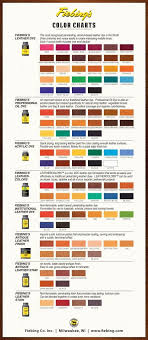 Brillo Leather Color Spray Dye Chart 2014 Dye Color Chart Fiebings Leather Dye For Gourd Crafts