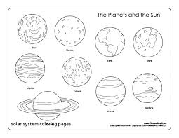 Coloring Pages Printables Solar System Printable Solar System