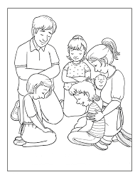 Small Picture Families Is Praying Coloring Pages For Kids cer Printable