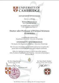 Degree Certificate Template Doctorate Best Phd Resume