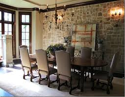 style dining room paradise valley arizona love: stone wall love whole room  stone wall love whole room