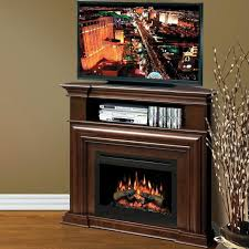 image of dimplex corner fireplace media center