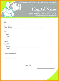 Doctors Excuse Note For Work Doctors Excuse Pdf Ijbcr Co
