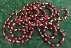 vintage mercury glass bead garland silver swirl pink beads xmas tree ornaments 1812765506