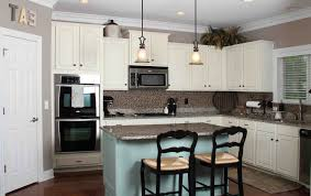 gray kitchen walls with white cabinets small color of kitchen countertops with gray walls black