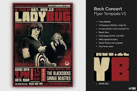 Concert Flyer Templates Free 005 Free Band Flyer Templates 02 Rock Concert Template