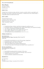 New Graduate Nurse Resume Template Nurse Resume Sample New Graduate ...