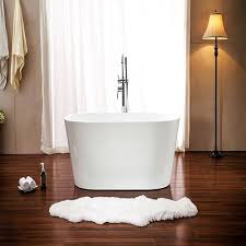 lola 53 inch free standing acrylic soaking tub with center drain pop up