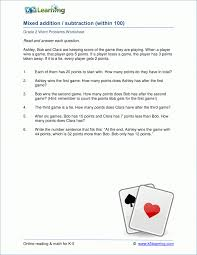 Kids : Digit Subtraction Worksheets With Regrouping Word Problems ...
