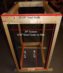 audio cabinet plans blueprint measurements for d i y server rack