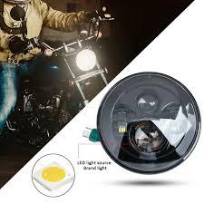 <b>7</b> inch motorcycle <b>LED headlight</b> high low beam light IP67 6500K ...