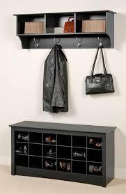 prepac ashley shoe storage bench white. Prepac Entryway Wall Mount Coat Rack W Shoe Storage Bench In Black Ashley White O