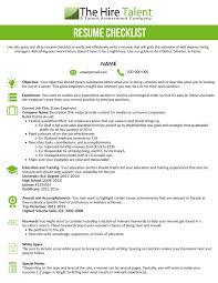 Resume Checklist For Employers Sidemcicek Com