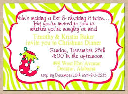 Holiday Dinner Invitation Template Christmas Party Invite Wording Zoli Koze
