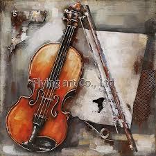 reion 3d metal wall art for violin