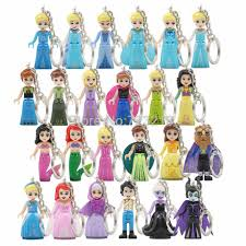 <b>Single Princess</b> Girl Legoings Fairy Tale Figure Belle Doll Mulan ...