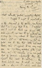 Vera Brittain Writes Roland Leighton The Kind Of Letter He
