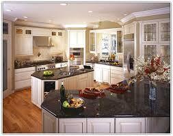 black granite countertops with white cabinets